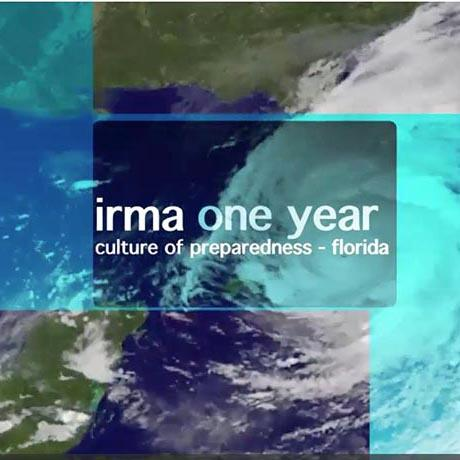 "Title slide of presentation: ""Irma One Year: Culture of Preparedness - Florida"""