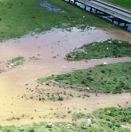 Farmland washed away in Yabucoa by Hurricane María.