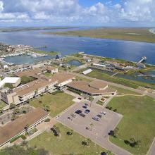 The Economic Development Administration is funding the establishment of a new Center for Coastal Ocean Science at UT Marine Science Institute in Port Aransas, Texas. Photo credit: Jace Tunnell